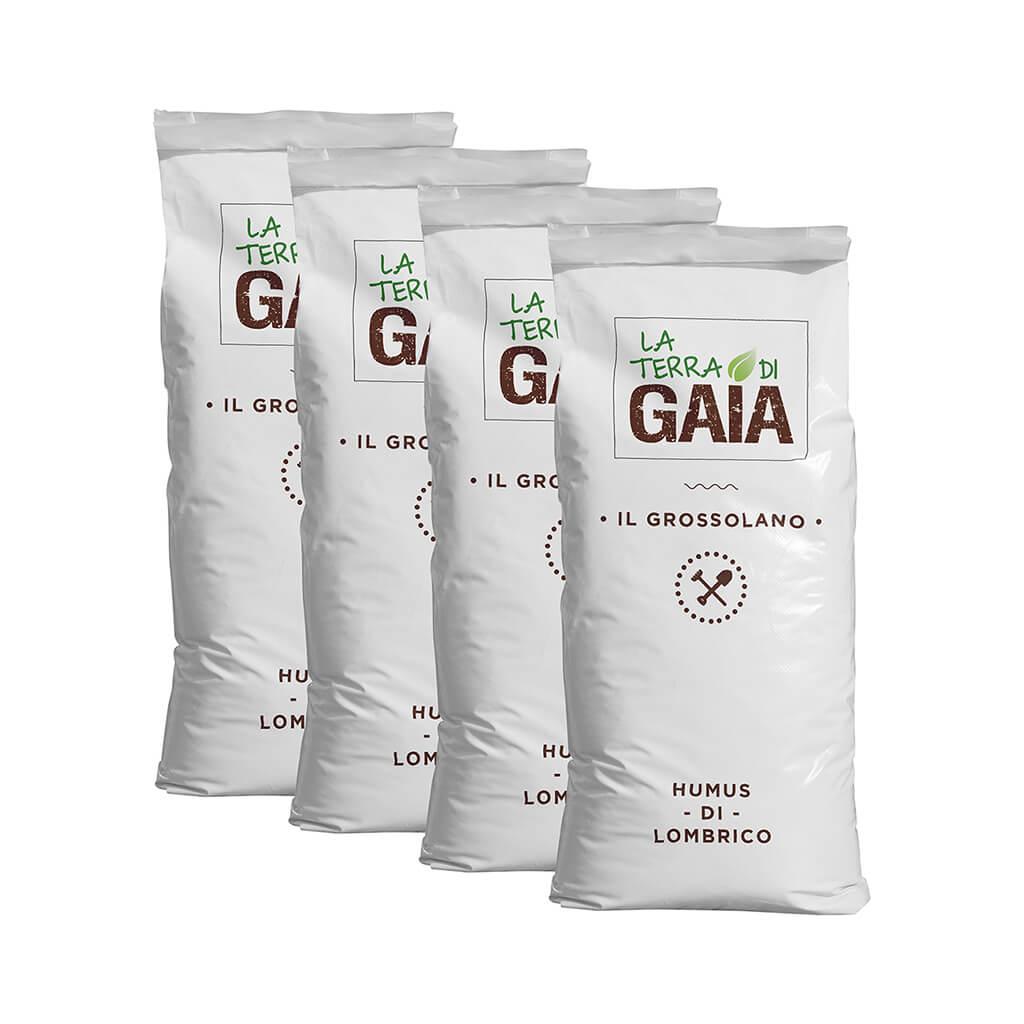 Lombricoltura azienda agricola la terra di gaia humus di - Sacchi di terra per giardino ...